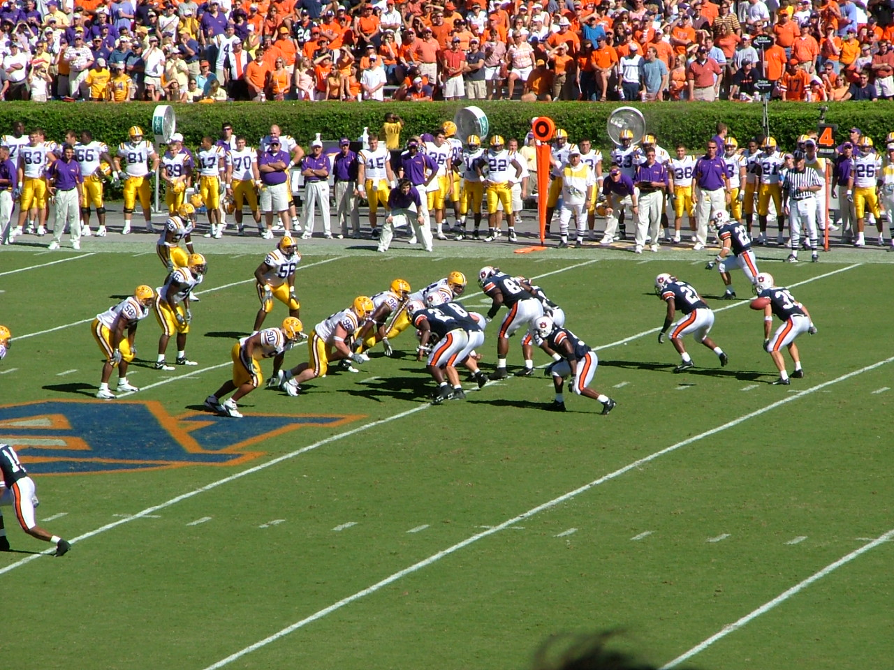 Auburn and LSU going at it