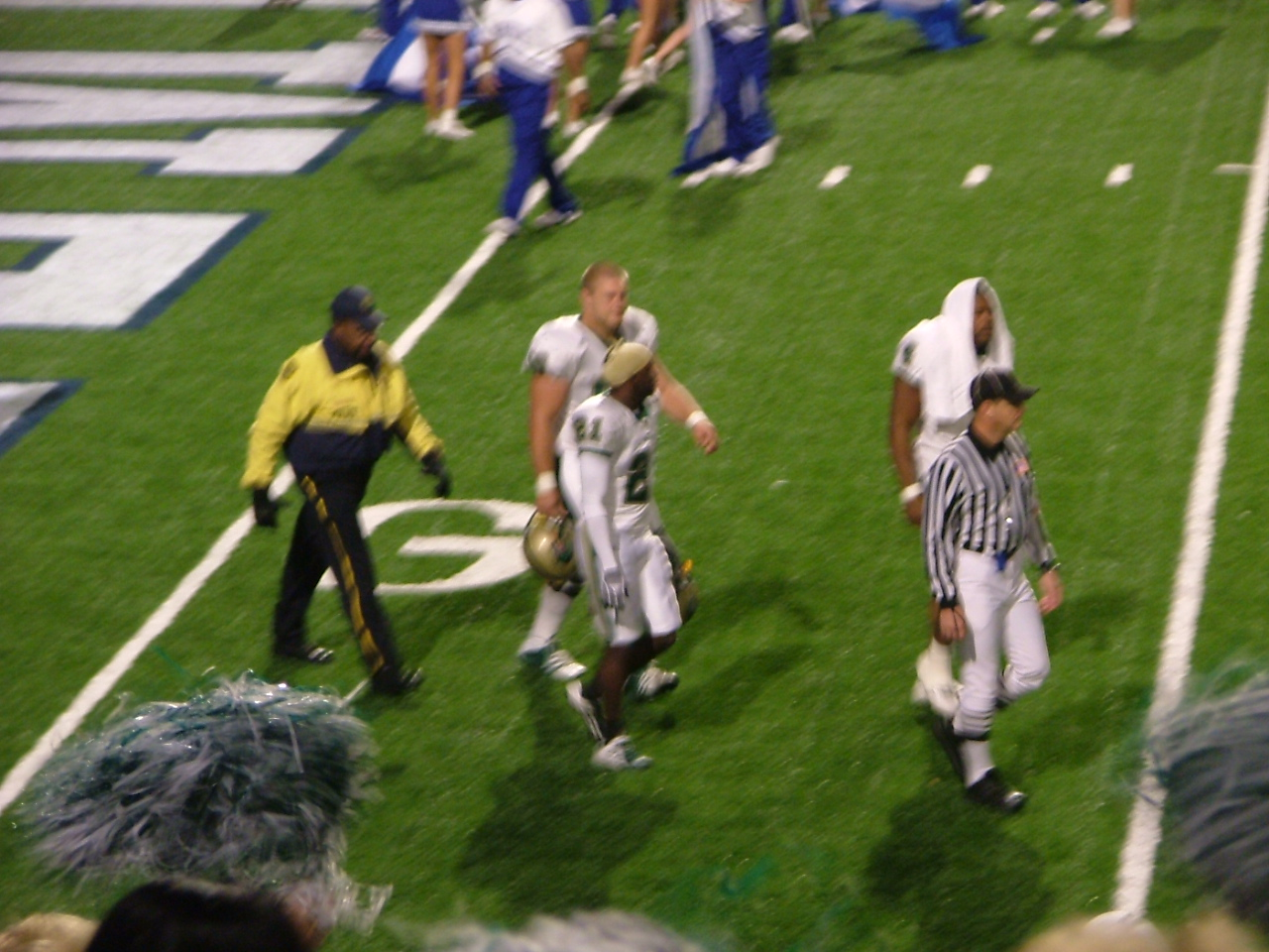 UAB coming onto the field
